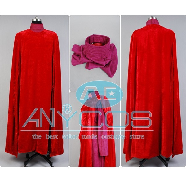 Star Wars Red Royal Guard Costume Robe Custom-made Movie Halloween Cosplay  Costume For Men Pary Custom Made Full Sets cee6dbb03