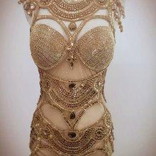 Женское модное трико, яркий боди, костюм с кристаллами, перспективная сценическая одежда для танцев, платья для выступлений, платья для ночных клубов певицы
