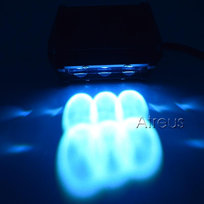 18W LED Light Car Work 12 Bar Spot Red Yellow Yellow Blue 4D DRL For - Dritat e makinave - Foto 6