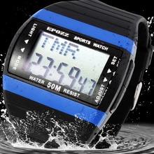 Reloj de buceo ceñido aerodinámico para hombre reloj deportivo para hombre  reloj masculino gran pantalla digital 314904f1fe05