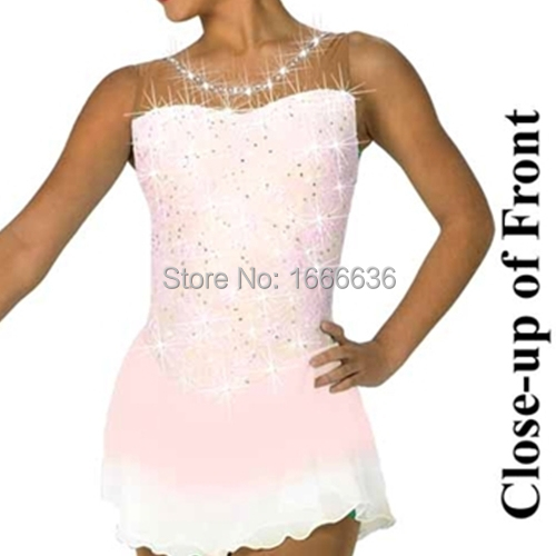 2016 Hot Sales Figure Ice Skating Dresses For Girls New Brand Vogue Figure Skating Competition Customized Dress DR2981