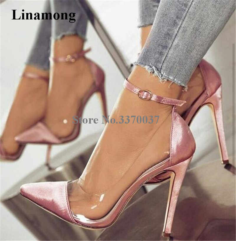 pink satin heels cheap online