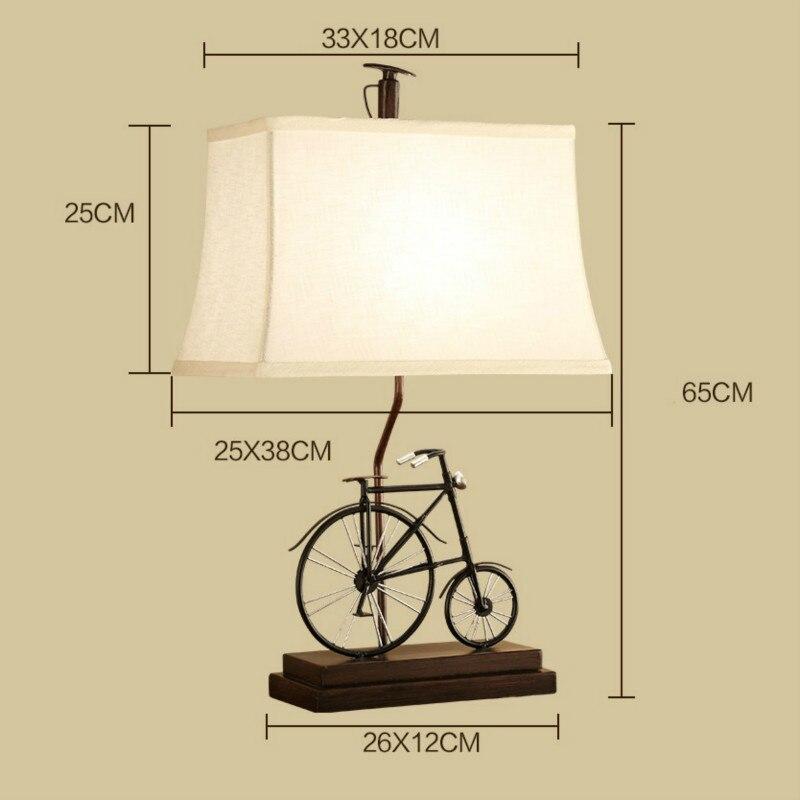 New Creative Rural Bike E27 Table Lamp For Childrens Room Gift Bar Restaurant Living Room Deco H 65cm 1421