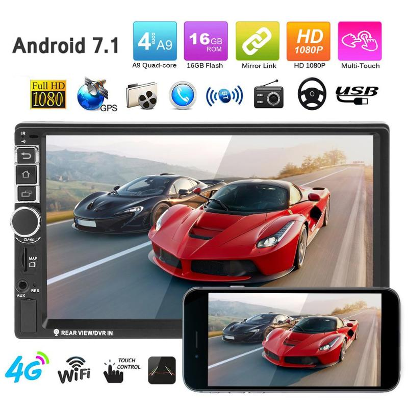 VODOOL 7inch 2Din Android Bluetooth Car MP5 Player GPS w/ North America Map Car Audio Stereo Multimedia FM/MP5/USB/AUX/Camera
