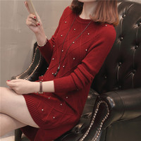 In The 7823 Film Outfit Long Knitting Round Collar Of Cultivate Morality Pullovers 43 5 Color