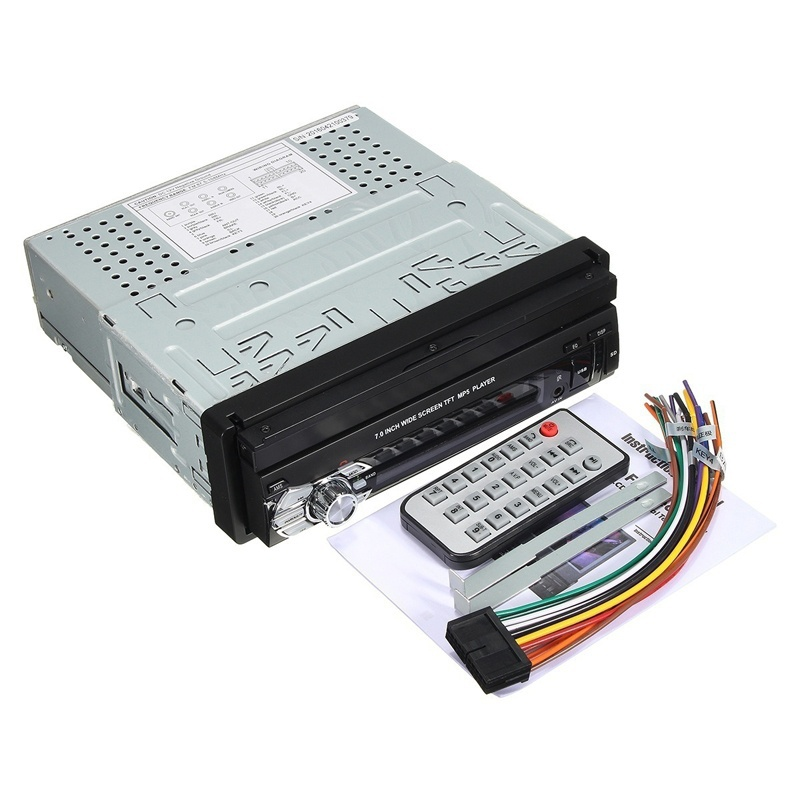 2018 Auto autoradio voiture stéréo Audio Radio Bluetooth 1din 7 pouces Hd rétractable écran tactile moniteur Dvd Mp5 Sd Fm Usb lecteur - 5