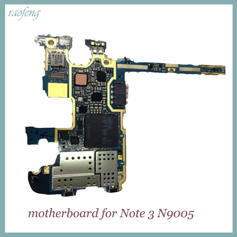 original well work Motherboard for Samsung Note 3 N9005 unlocked16gb replacement mainboard with chips  logic boards(China)