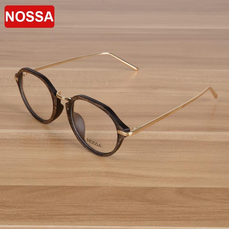 عینک برند NOSSA عینک یکپارچهسازی با سیستمعامل عینک پلاستیکی Unisex فلزی قاب زنانه و مردانه عینک قاب قاب عینک پرنعمت نوری 2017