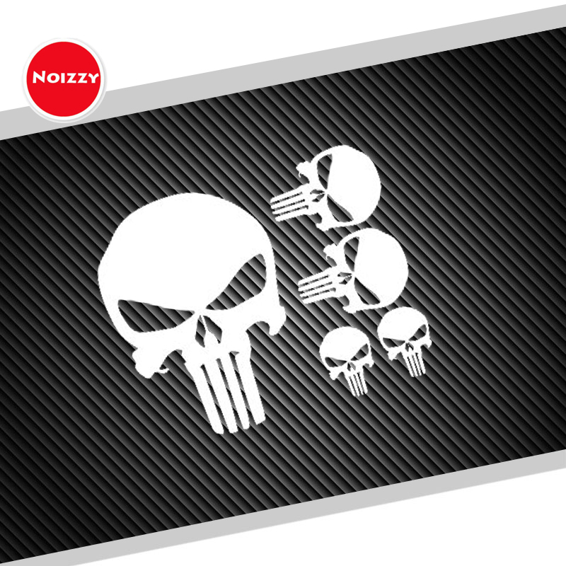 Noizzy 1 Set The Punisher Skull Ho Avenger Car Sticker Vinyl Auto Decal Reflective White Window Body Ipad Cup Motorcycle Tuning junction produce jp luxury reflective windshield sticker ho car auto motorcycle vinyl diy decal exterior window body car styling