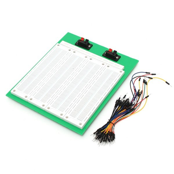 2860 Tie Points Solderless PCB Breadboard With Switch + 65Pcs Jumper Wire Cable