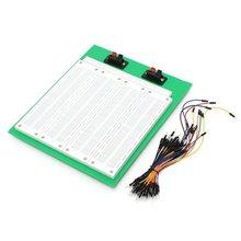 Placa de pruebas PCB sin soldadura de 2860 puntos de amarre con interruptor + Cable de puente de 65 Uds