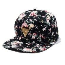 Fashion Baseball Cap Women Floral Flower Snapback Hip-Hop Hat Flat Peaked Adjustable Baseball Cap luxury brand LB