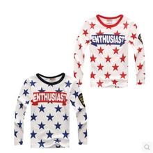 2015 Autumn child t-shirt boys girls child basic shirt cotton lounge sleepwear long-sleeve T-shirt free shipping