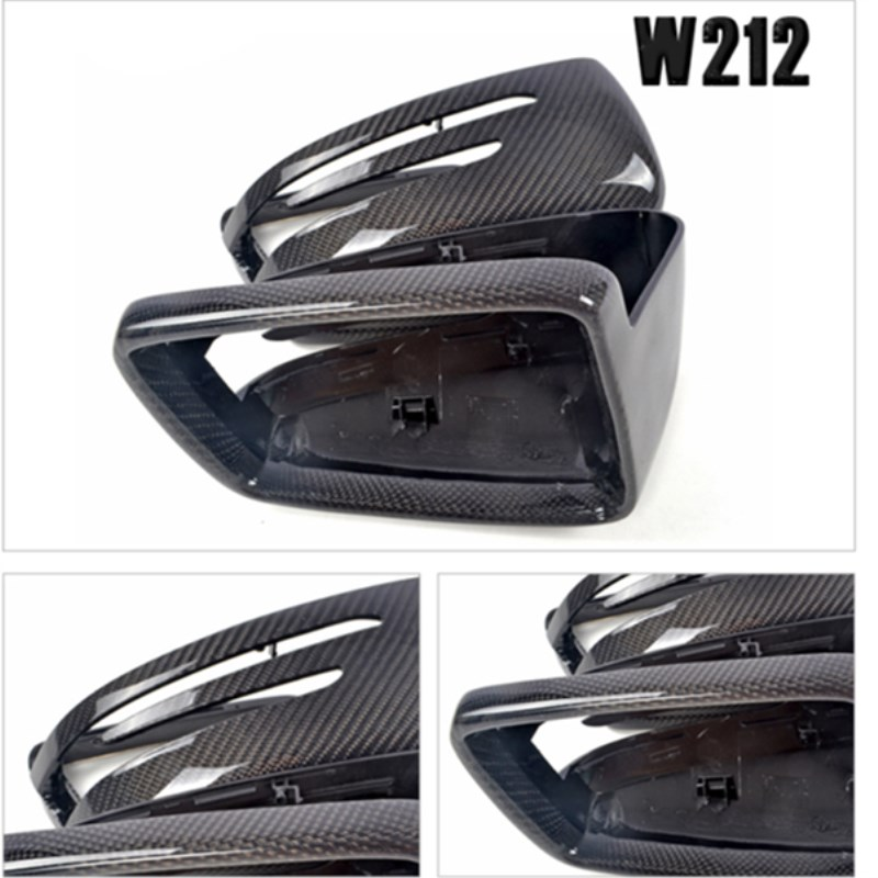 Carbon fiber car rearview mirror covers for mercedes-benz AMG E200 E260 E300L E63 W212 2015 2016 auto replacement parts