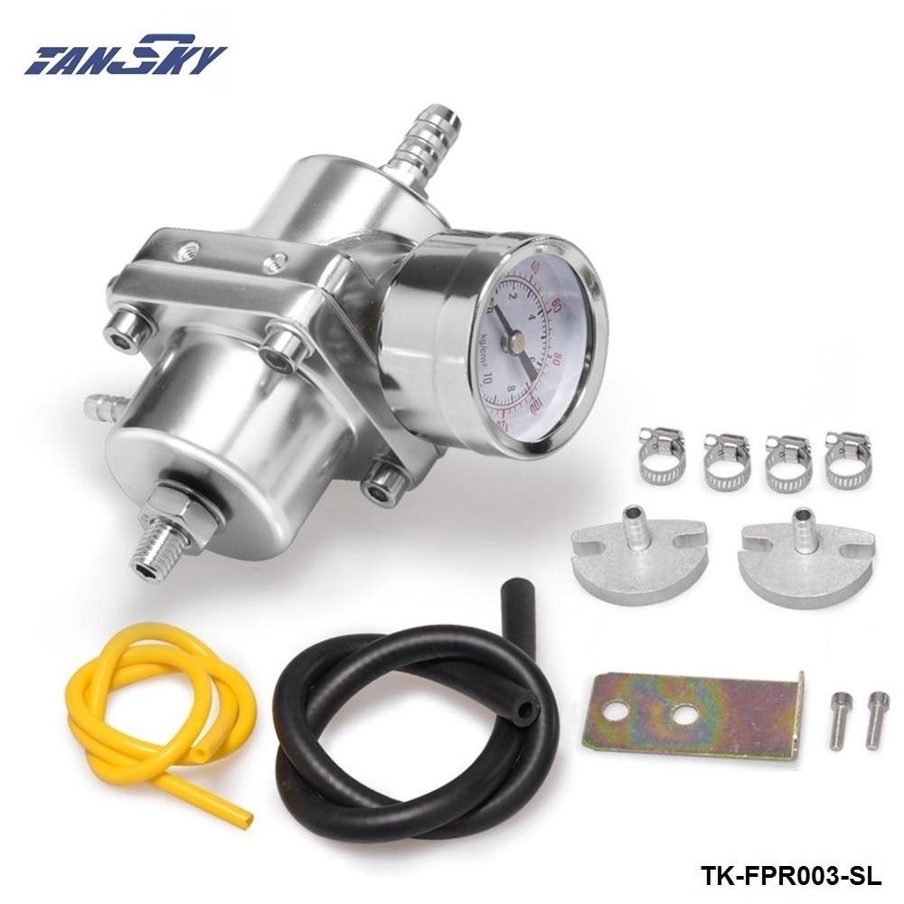 1:1 Polish Adjustable Compact High Performance Fuel Rail Pressure Regulator Psi