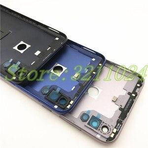 Image 4 - Original para asus zenfone max m2 zb633kl voltar bateria capa com chave lateral + lente de vidro da câmera traseira bateria porta habitação logotipo