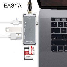Easya Тип USB c концентратор к HDMI адаптер Dock USB Dongle c Hub 3.0 адаптер Thunderbolt3 комбо с sd слот для MacBook Pro 2016 2017