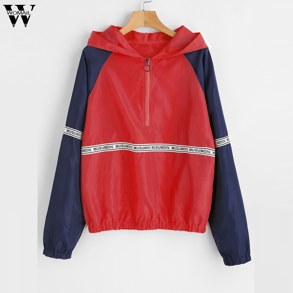Womail Sweatshirts Women's Fashion Long Sleeve Letter Print Casual Overall Autumn Top Sweatshirt Women Hoodie Sweatshirt S XL