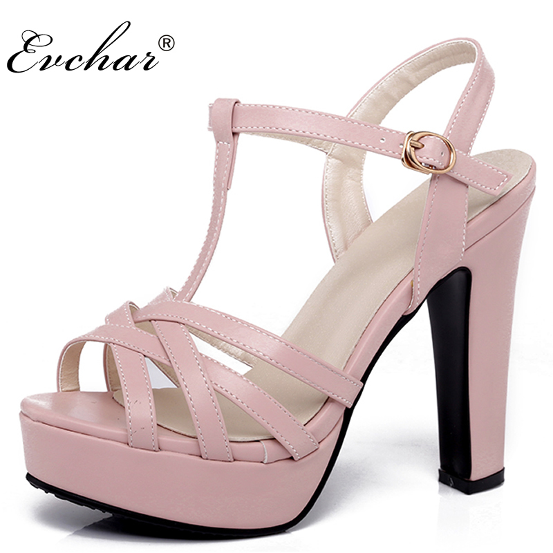 Fashion Shoes Women Sandals Summer Peep Toe T-Strap party Shoes Platform super High Heels Ladies sexy  Sandals big size 31-43 big size 32 43 fashion party shoes woman sexy high heels platform summer pumps ankle strap sandals women shoes