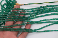 loose beads green gemstone AA emerald faceted 3 5mm 14 for DIY jewelry making FPPJ wholesale beads nature gem stone