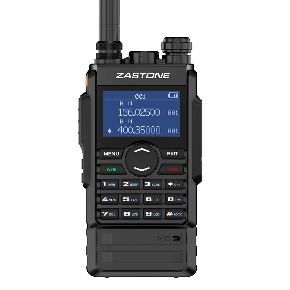 Zastone M7 Walkie Talkie 8W Dual Band UHF 400-480MHz/ VHF 136-174MHz 2600mAh Dual PTT Two Way Radio Communicator