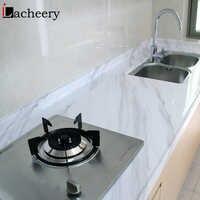 Modern Simple Marble Wallpaper PVC Waterproof Bathroom Wall Decor Kitchen Countertop Stickers Vinyl Self Adhesive Contact Paper