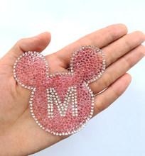 2pcs Sparkling mouse Embroidery Iron Patches for Clothing By Diamond  Rhinestones Black Iron on Stick Applique Jersey Spangles fdbe18356011