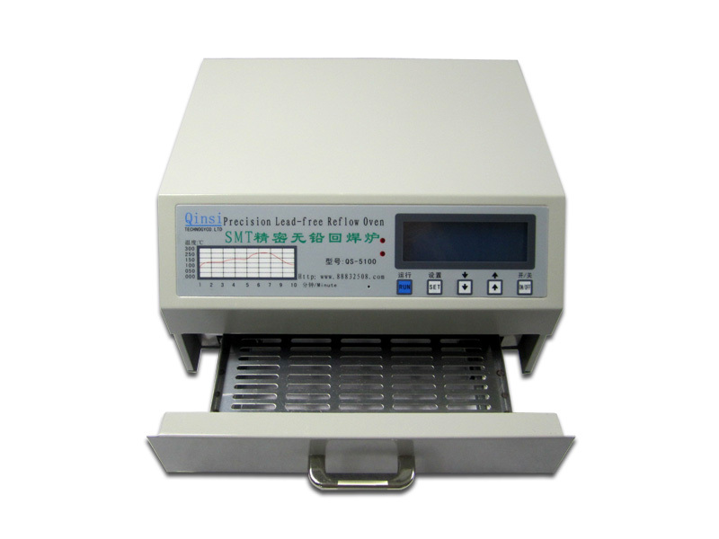 QS-5100 600W desktop automatic lead-free reflow oven for SMD rework solder area 180*120mm to Russia free tax