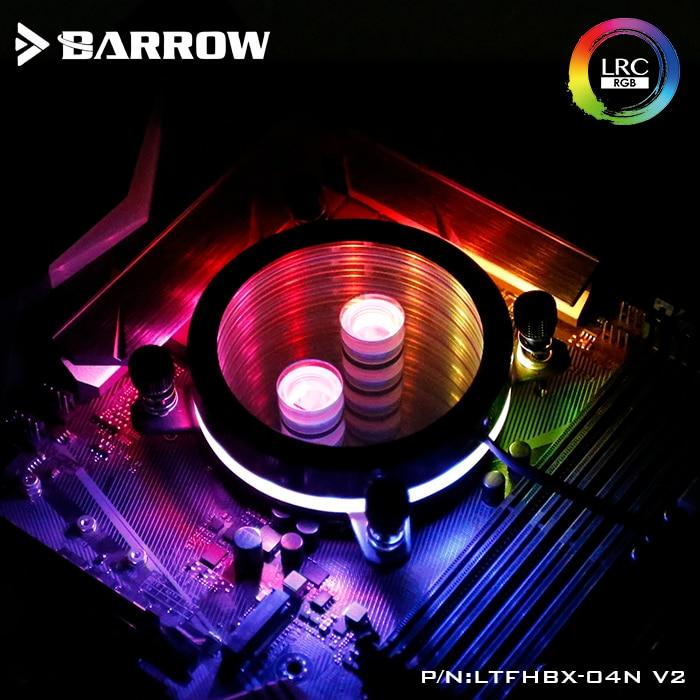 купить Barrow CPU Water Block use for INTEL LGA 2011 2066 X99 X299 Acrylic + Copper Radiator RGB 5V GND to 3PIN Hearder in Motherboard по цене 3046.29 рублей