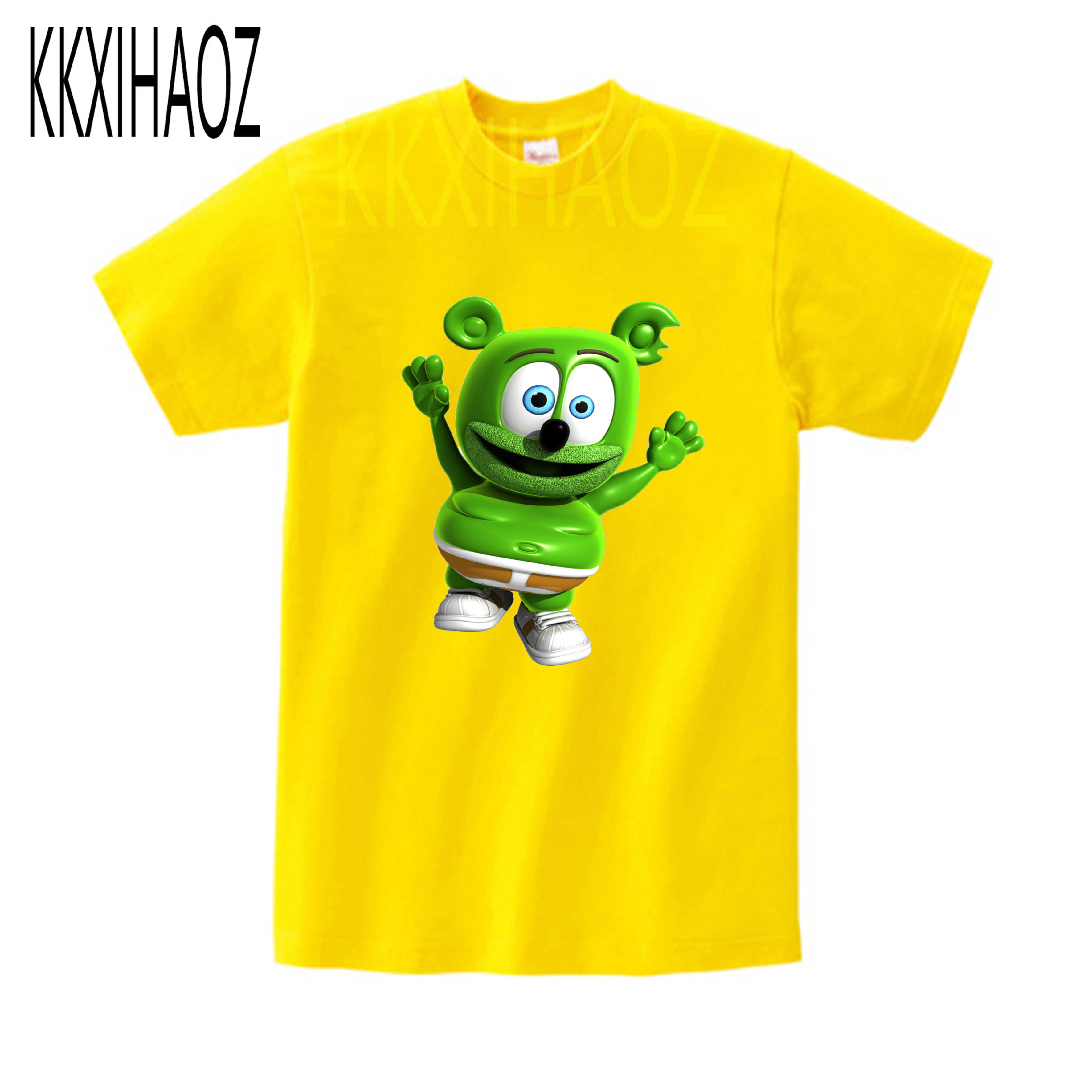 2019 lato nowy mody T-shirt dla dzieci Gummy niedźwiedzie druku dorywczo fajny t shirt letnie chłopcy i dziewczęta Tshirt mj