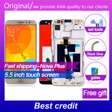 Huawei Nova Plus 5.5 inch Touch Screen TD-LTE MLA-L01 MLA-L11 LCD Display 1920*1080 Digitizer Assembly Frame with Free Tools