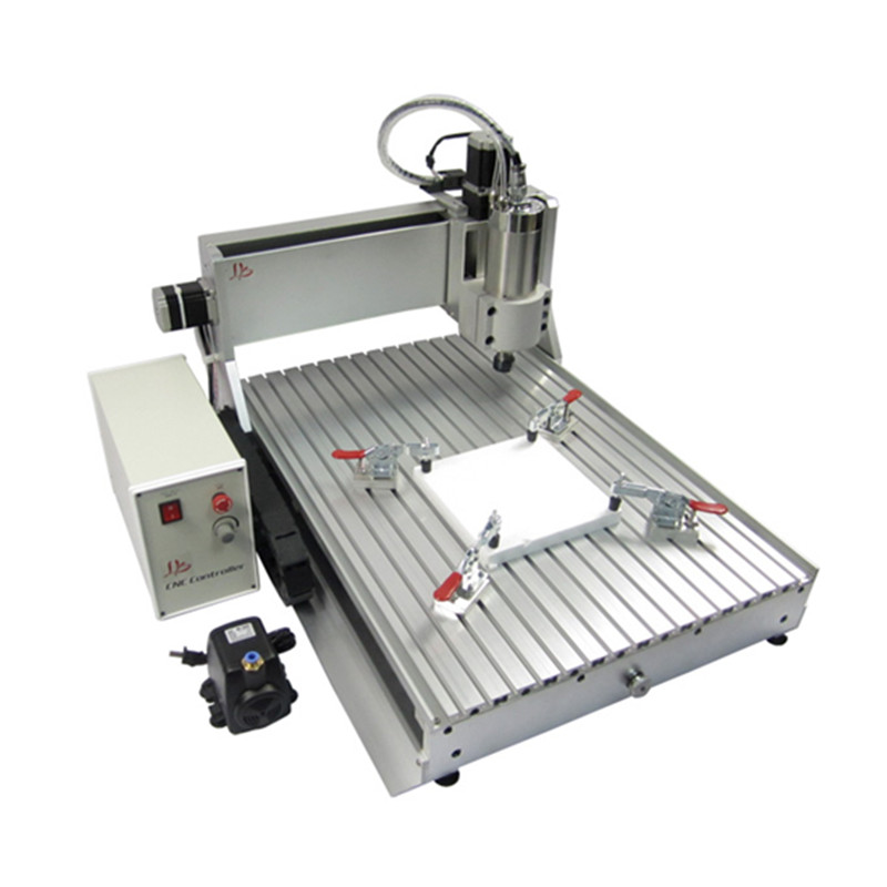 CNC 6090 Z-VFD 1.5KW 4 axis 3d cnc engraving drilling milling machine woodworking router jft new arrival high speed 4 axis 800w affordable cnc router with usb port precision drilling machine for woodworking 6090