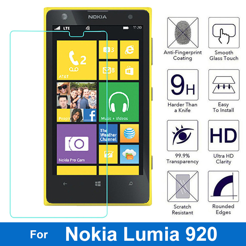 Amazing Tempered Glass For <font><b>Nokia</b></font> Lumia 520 530 630 820 830 920 930 1020 <font><b>1320</b></font> 1520 Screen Protector Front Guard Film For <font><b>Nokia</b></font> XL image