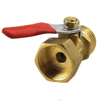 Free Shipping 1/2PT 20mm Male to 19mm Female Thread Lever Handle Ball Valve 3 8 pt female f f threaded green lever handle brass ball valve