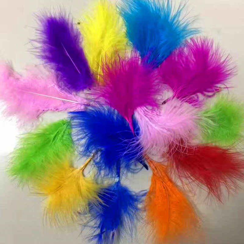 Tszwj New 1 Bag Of 100pcs Color Natural Feathers Birthday Party Decoration Proposal Balloon Accessories Whole