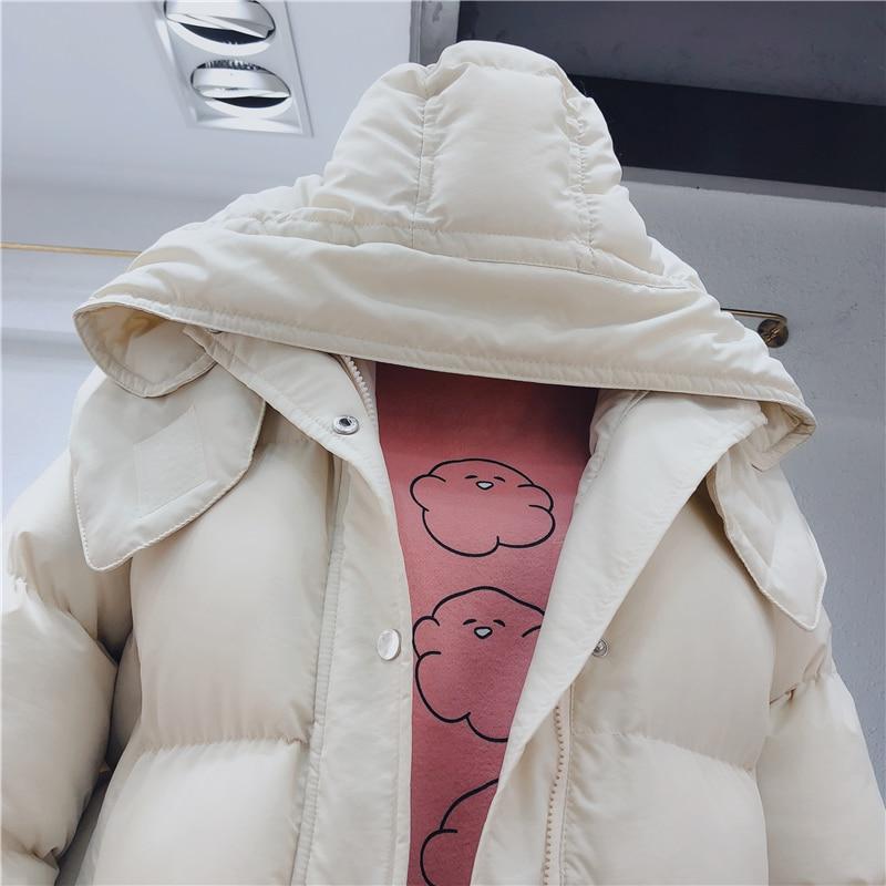Vestes Bas Gilet Veste Hiver Le Coréenne Femme Et Solide Couleur Longues 2 Couleurs Manches jm9928 Femmes Lâche Manteau Vers Chaud SPXXRq