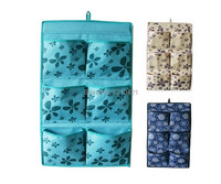 2014 New Home Cube Nylon Oxford 6 Pockets Wall Closet Hanging Storage Bag Organizer With Free