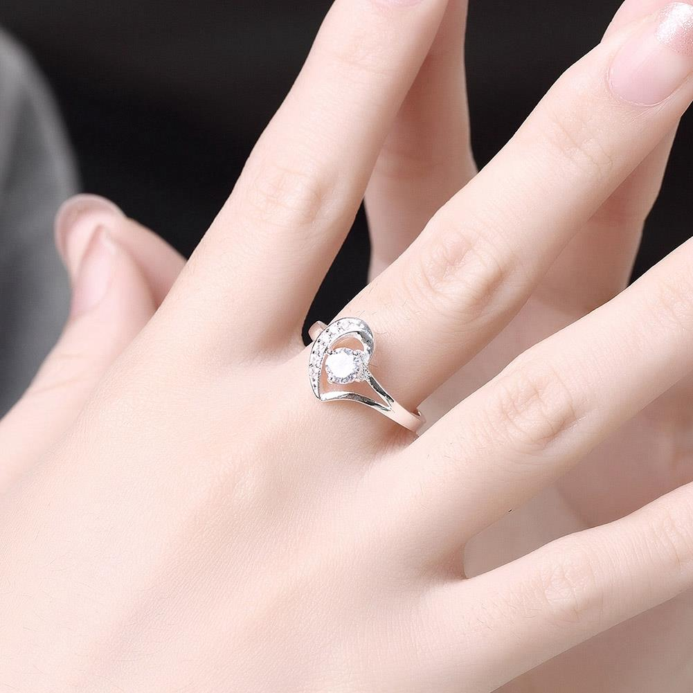 New 925 Sterling Silver Wedding Party Fashion Design Romantic Ring ...