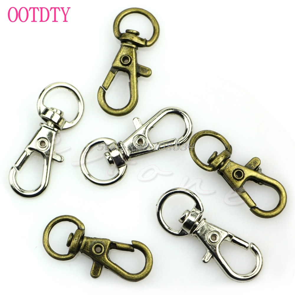 10Pcs Metal Lanyard Hook Swivel Snap Lobster Clasp Clips Craft Findings DIY S08 Drop ship цены онлайн