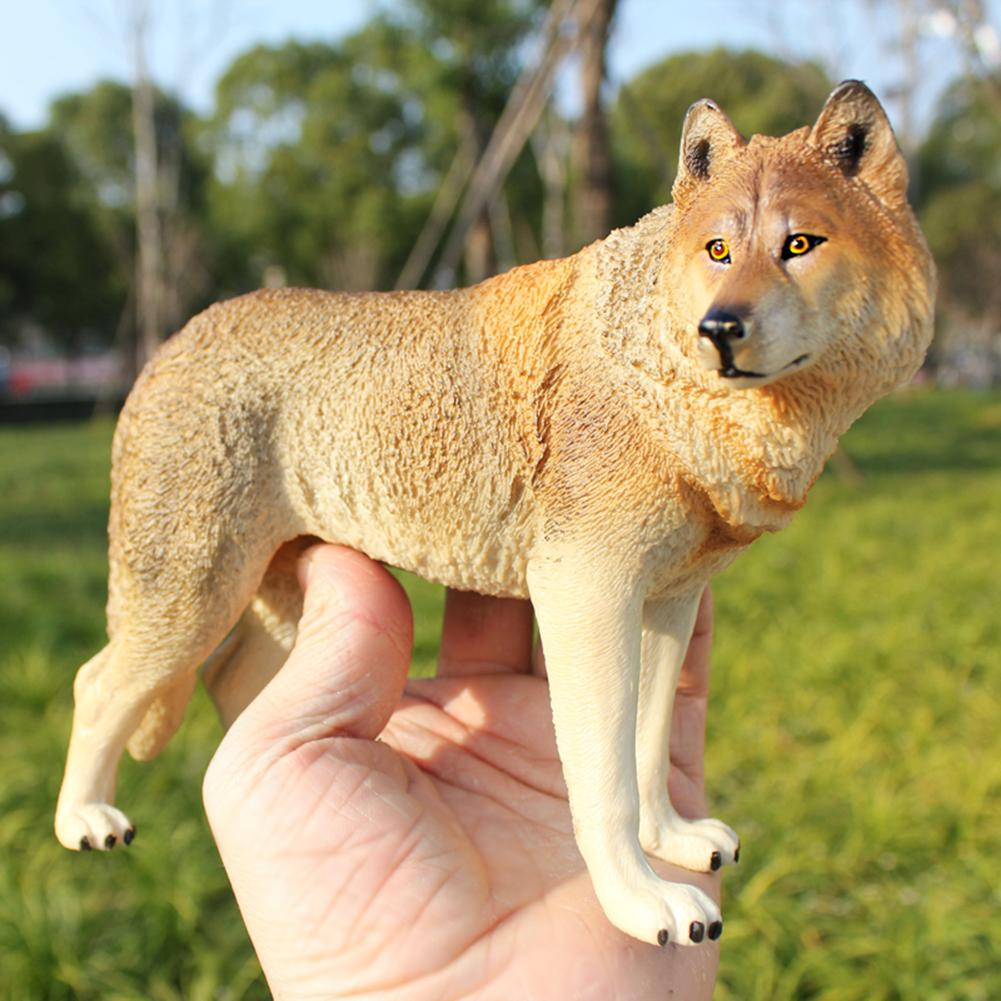 20cm Simulation Wolf Animal Model PVC Statue Educational Kids Toy Home Decor  Figure Plastic Decoration