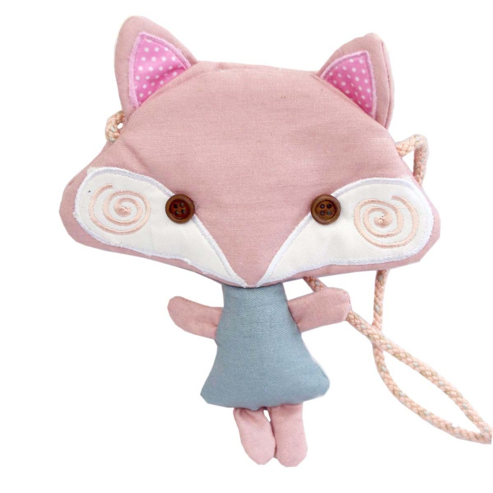 Cloth-Bag Messenger-Bag Pink Little Satchel M401 Fox Creative Baby Small-Size Children's