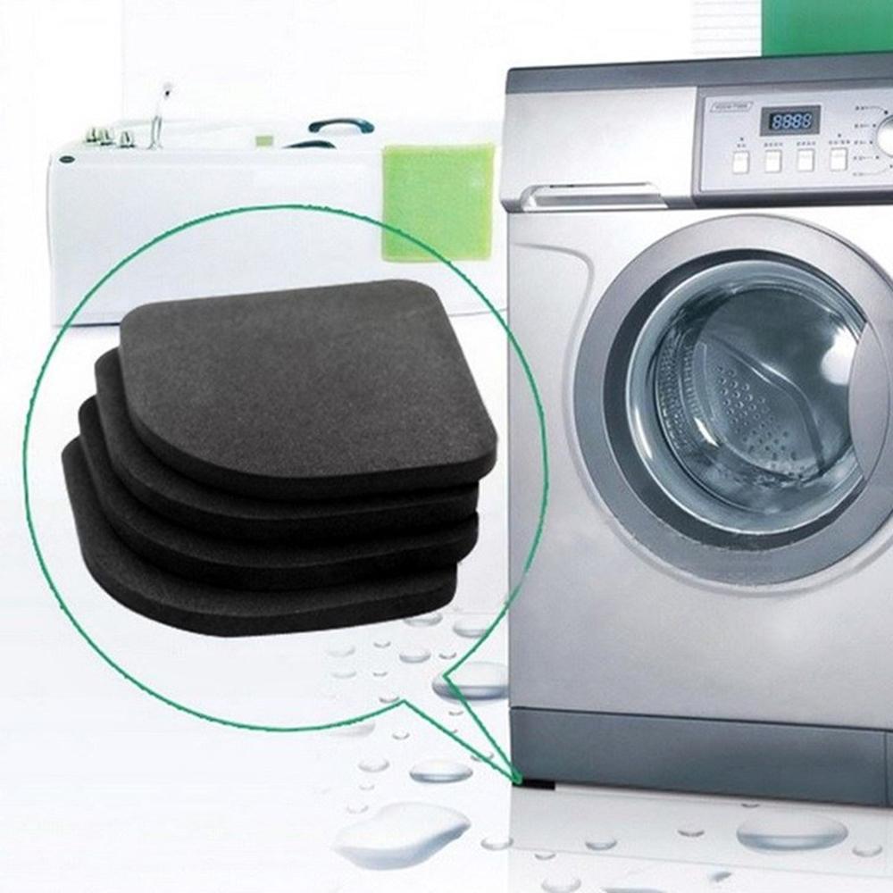 4PCS/Set Black Rubber Leg Anti-Vibration Non-Slip Mat Refrigerator Chair Desk Feet Mats Washing Mach