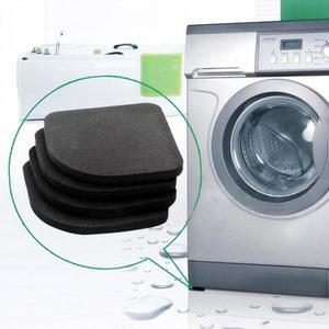 Image 1 - 4PCS/Set Black Rubber Leg Anti Vibration Non Slip Mat Refrigerator Chair Desk Feet Mats Washing Machine Shock Absorbing Pads
