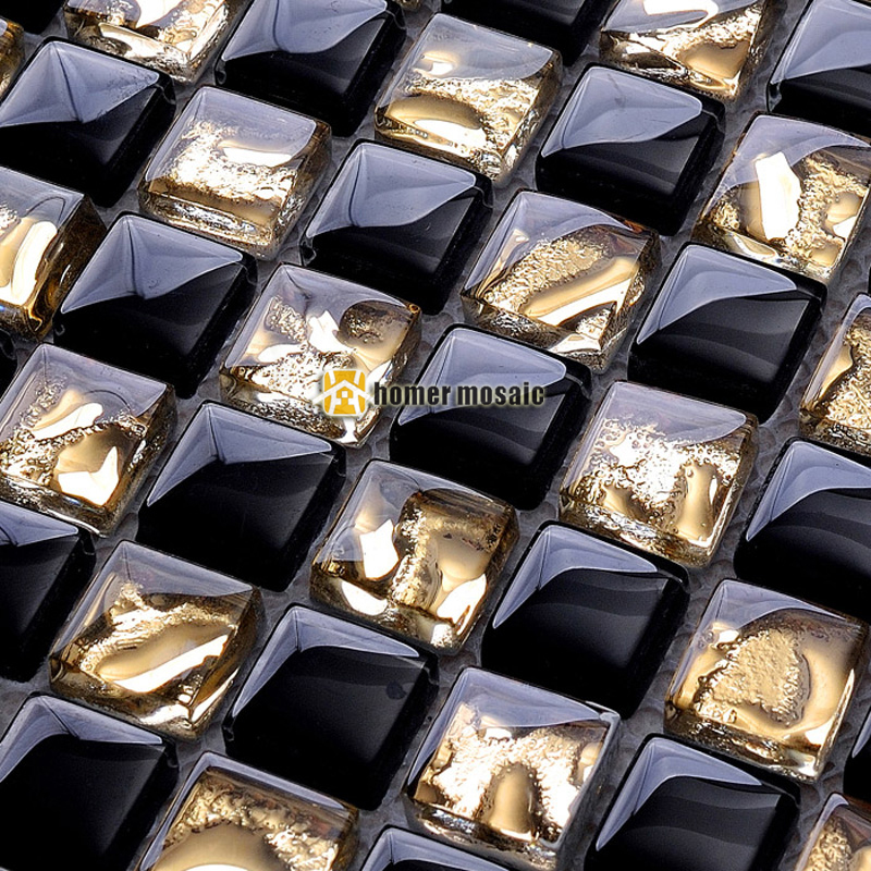 black glass mixed golden diamond mirror glass mosaic for bathroom shower tiles kitchen backsplash tiles wall mosaic HME6008 ocean blue pearl shell mosaic tile gray natural marble kitchen backsplash sea shell tiles subway glass conch wall tiles lsbk53