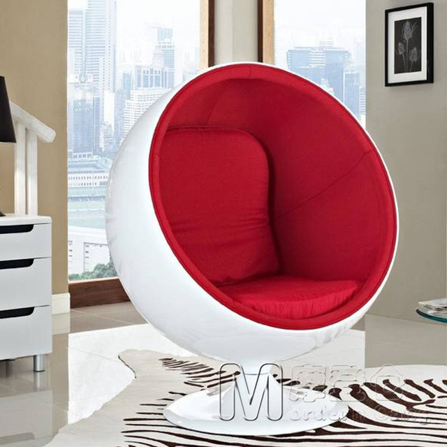 Ball Chair Aarnio Swivel Club Furniture Sofas Circular E Enclosed