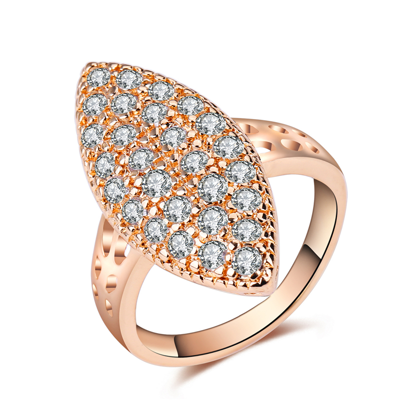 AYAYOO Gold Color Finger Ring For Women Boho Cubic Zircon Wedding Ring Female Engagement 2018 Ladies Statement Ring
