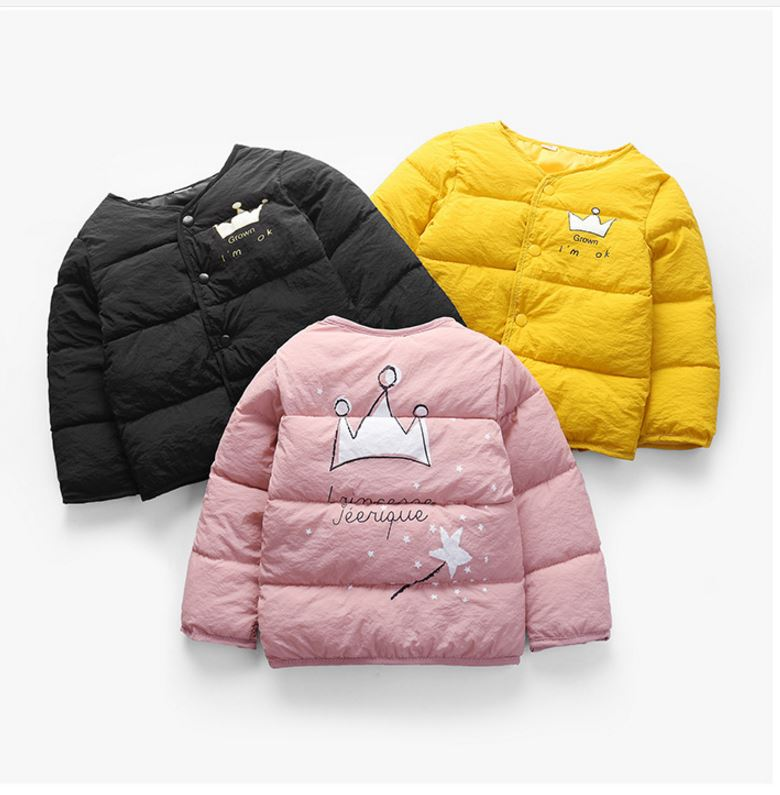 Children Cotton Clothing Kids Baby Jackets Autumn/Winter Girls Down Padded Coat Kids Boys Liner Clothes Infant Fashion Outerwear