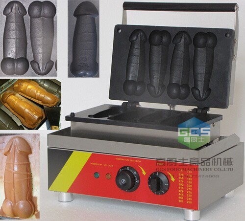 free shipping gas type 4 pcs lolly hot dot plate waffle grill hot dog stick lolly waffle iron Electric 110v 220v Lolly Waffle maker macine Big cock mould lolly stick hot dog