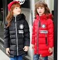 Casaco Menina Crianças Casuais Parka Pato Casaco de Inverno Longa Seção Para Baixo Grosso Fur Com Capuz Crianças Jaqueta de Inverno Para Meninas Outerwear