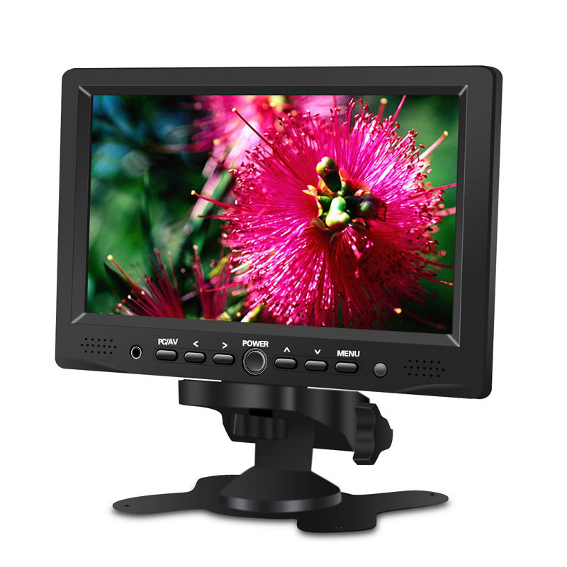 EYOYO 7 inch IPS Color Monitor HDMl VGA Input Screen Video Fr PC Car View CCTV Camera